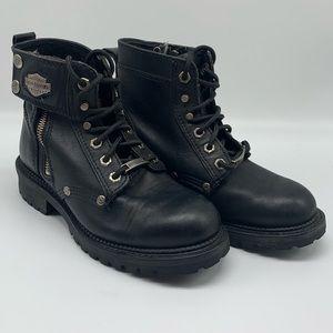 Harley Davidson Cimarron Motorcycle Boots Black 7M